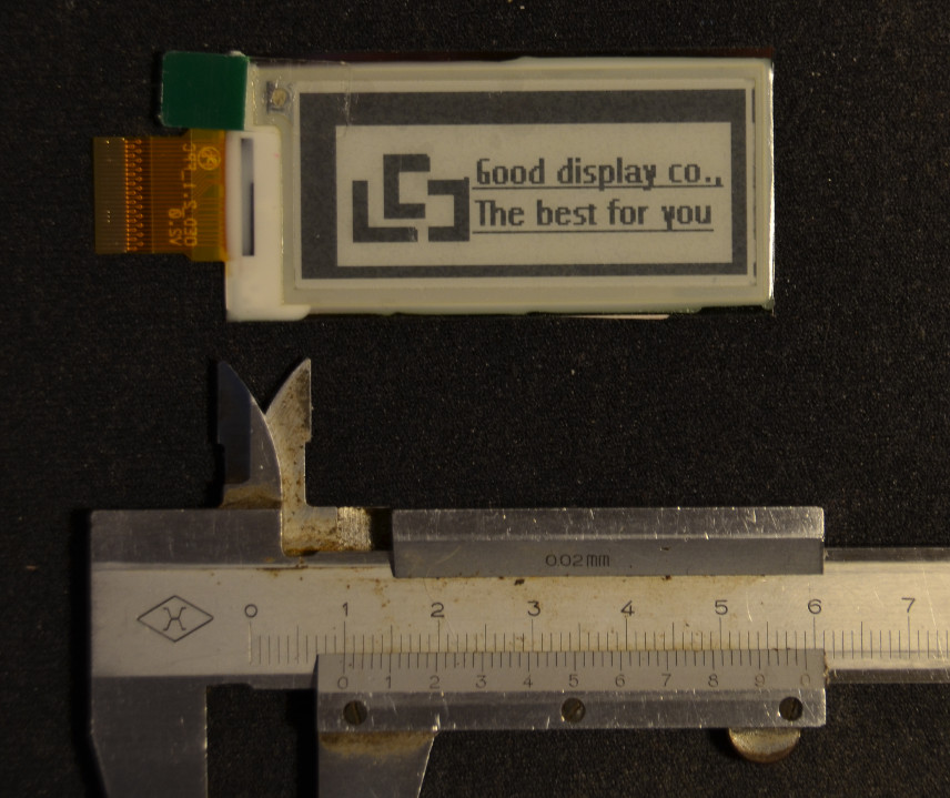 ePaper EPD display front side view