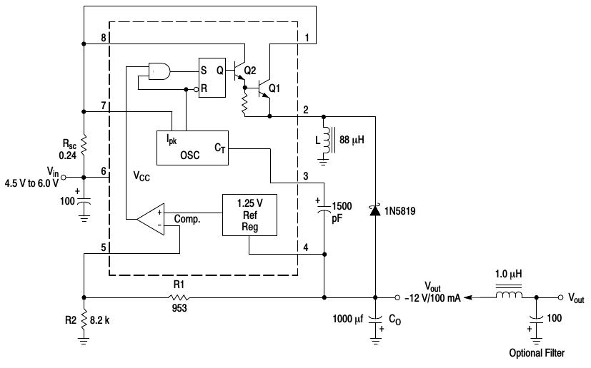 fun with a switching regulator mc34063a \u2013 jarda\u0027s spare time electronicsmc34063a inverting topology