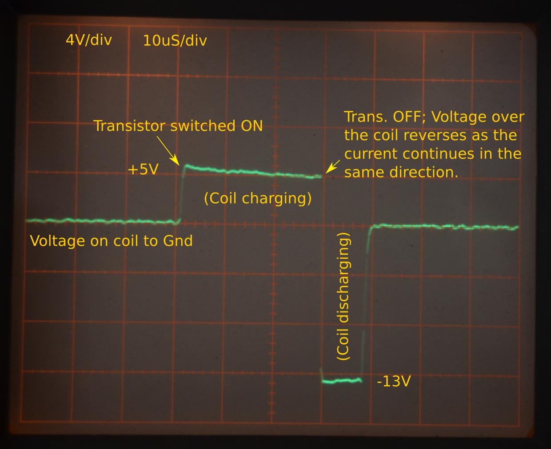 MC34063A: Coil voltage