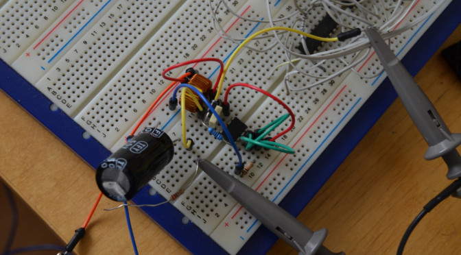 Fun with a switching regulator MC34063A